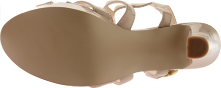 Women's Touch Ups Queenie II, Nude Patent, large, image 7
