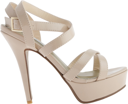 Women's Touch Ups Andrea, Nude Patent, large, image 2
