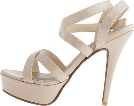 Women's Touch Ups Andrea, Nude Patent, large, image 3