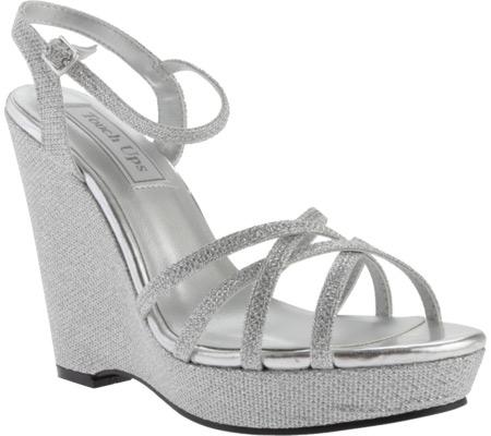 Women's Touch Ups Jaden Sandal, Silver Shimmer, large, image 1