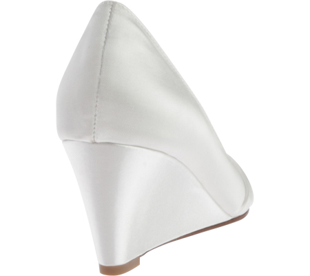 Women's Touch Ups Lee Wedge, White Satin, large, image 4