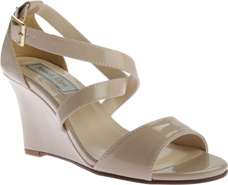 Women's Touch Ups Jenna Wedge Sandal, Nude Patent, large, image 1