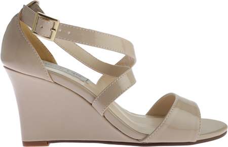 Women's Touch Ups Jenna Wedge Sandal, Nude Patent, large, image 2