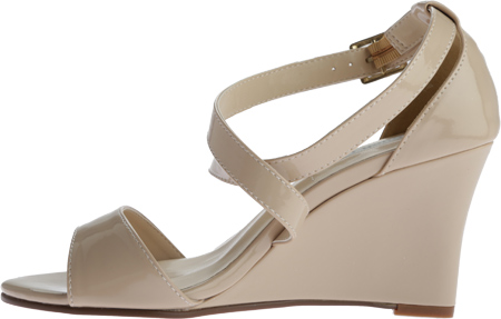 Women's Touch Ups Jenna Wedge Sandal, Nude Patent, large, image 3
