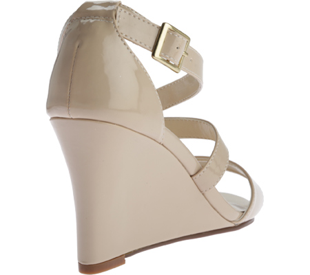 Women's Touch Ups Jenna Wedge Sandal, Nude Patent, large, image 4