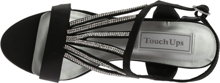 Women's Touch Ups Carmen Sparkly Sandal, Black Satin, large, image 5