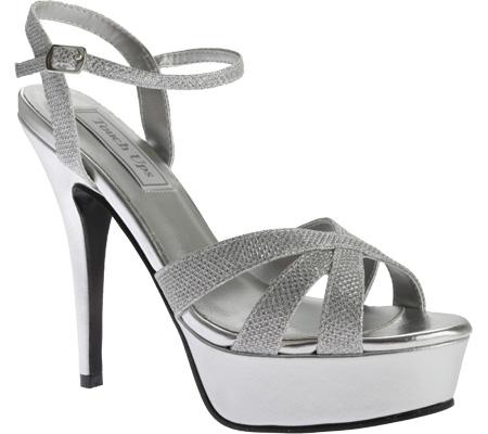 Women's Touch Ups Cori Platform Sandal, Silver Shimmer, large, image 1
