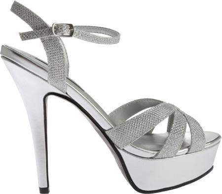 Women's Touch Ups Cori Platform Sandal, Silver Shimmer, large, image 2