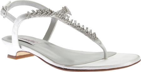 Women's Dyeables Sarah T-Strap Sandal, White Satin, large, image 1