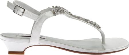 Women's Dyeables Sarah T-Strap Sandal, White Satin, large, image 2