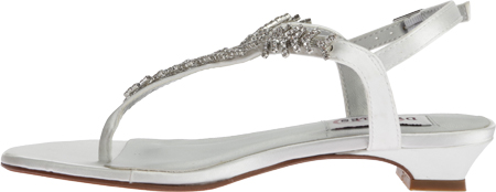 Women's Dyeables Sarah T-Strap Sandal, White Satin, large, image 3