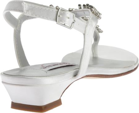Women's Dyeables Sarah T-Strap Sandal, White Satin, large, image 4