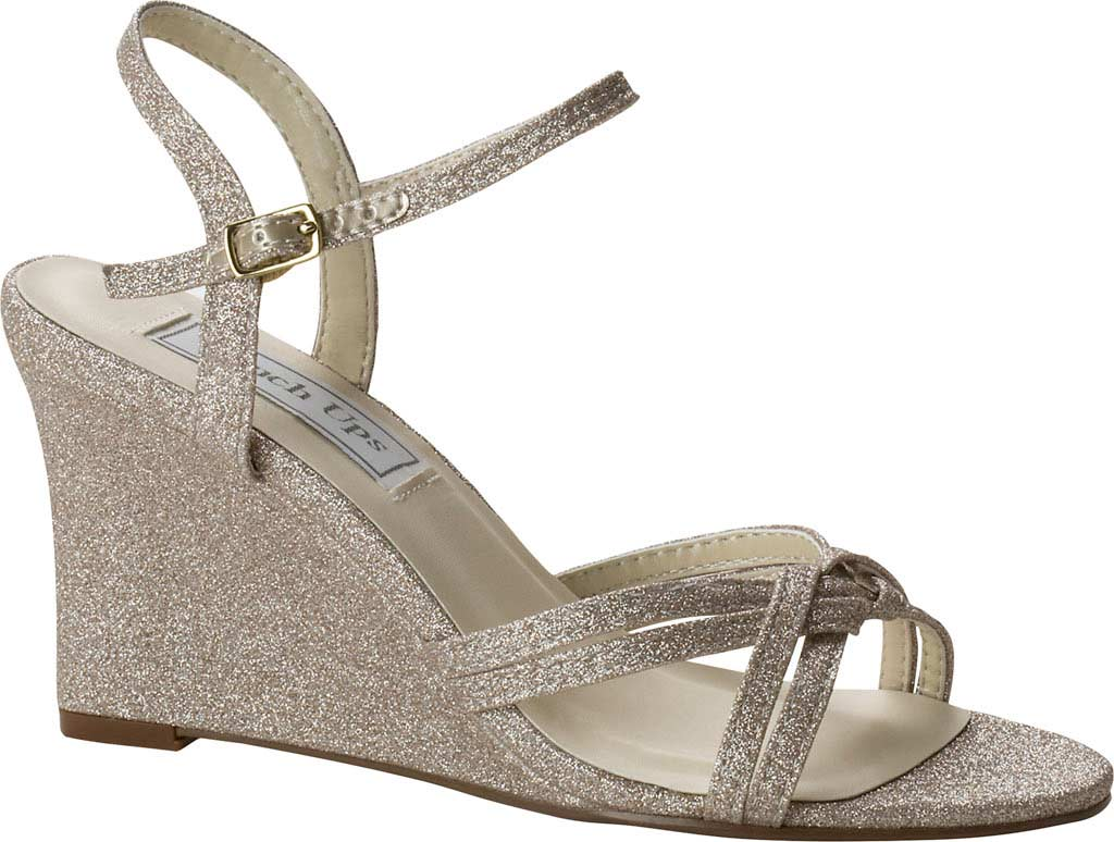 Women's Touch Ups Buffy Wedge Sandal, Champagne Glitter, large, image 1