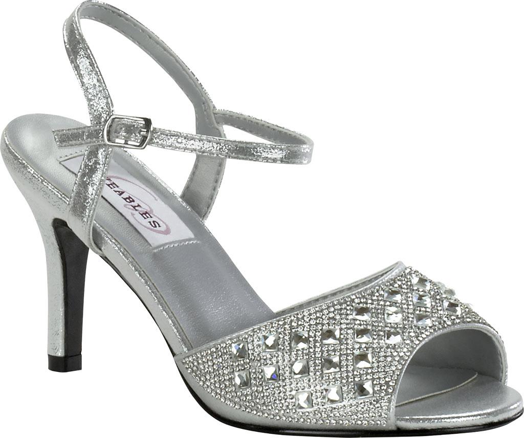 Women's Dyeables Lynn Quarter Strap Sandal, Silver Shimmer, large, image 1