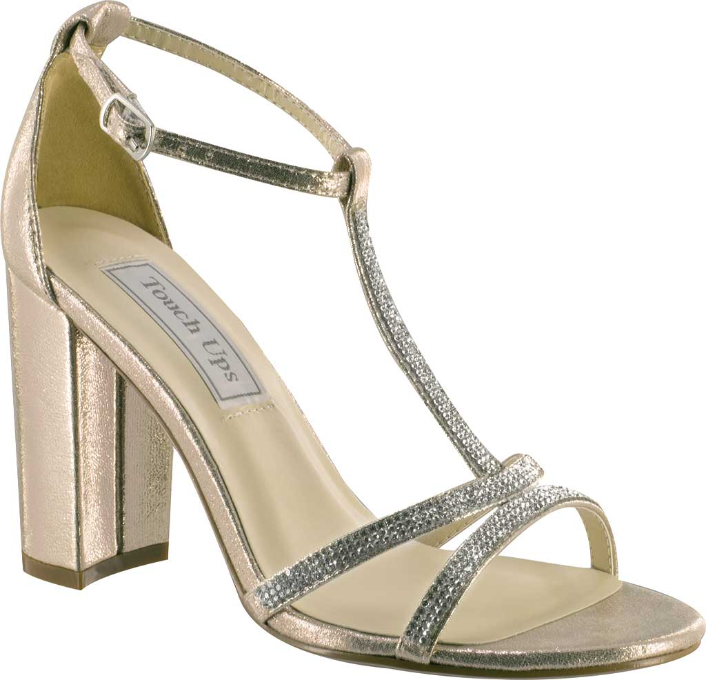 Women's Touch Ups Gwen T-Strap Sandal, Champagne Shimmer, large, image 1