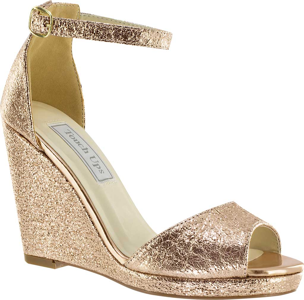 Women's Touch Ups Holly Platform Wedge, Rose Gold Foil, large, image 1