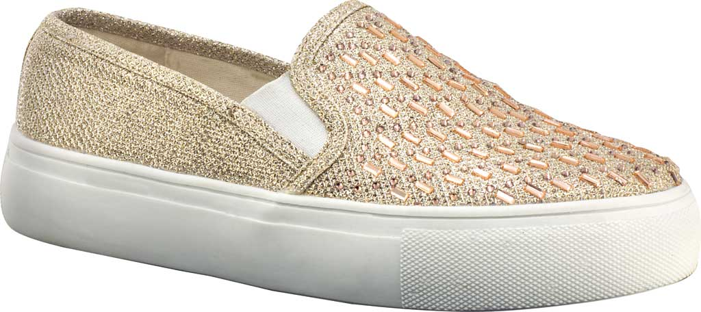 Women's Touch Ups Jewel Sneaker, Champagne Glitter, large, image 1