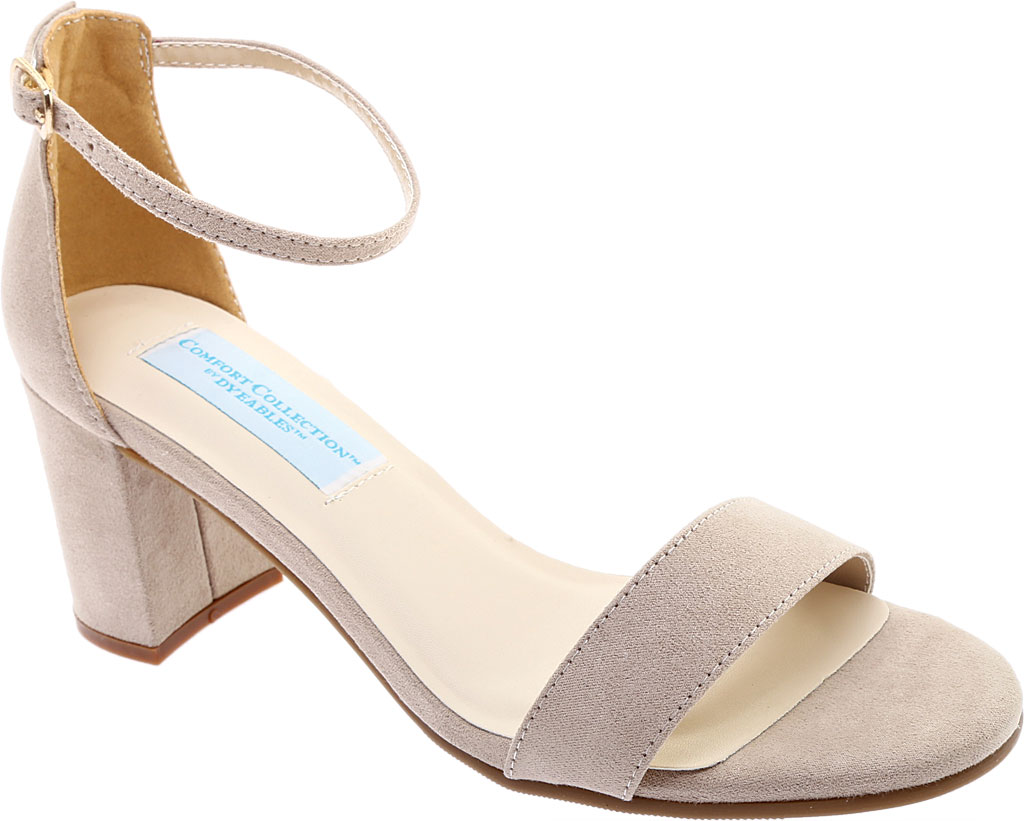 Women's Touch Ups January Sandal, Beige Suede, large, image 1