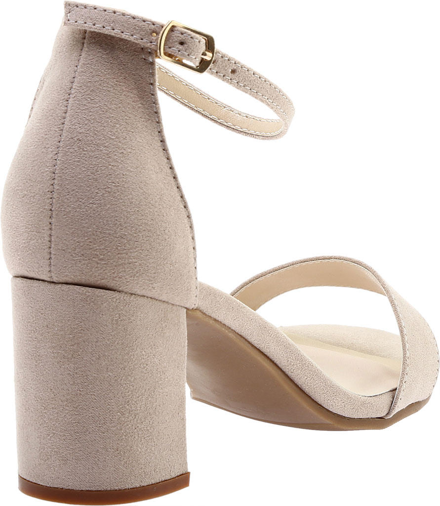 Women's Touch Ups January Sandal, Beige Suede, large, image 4