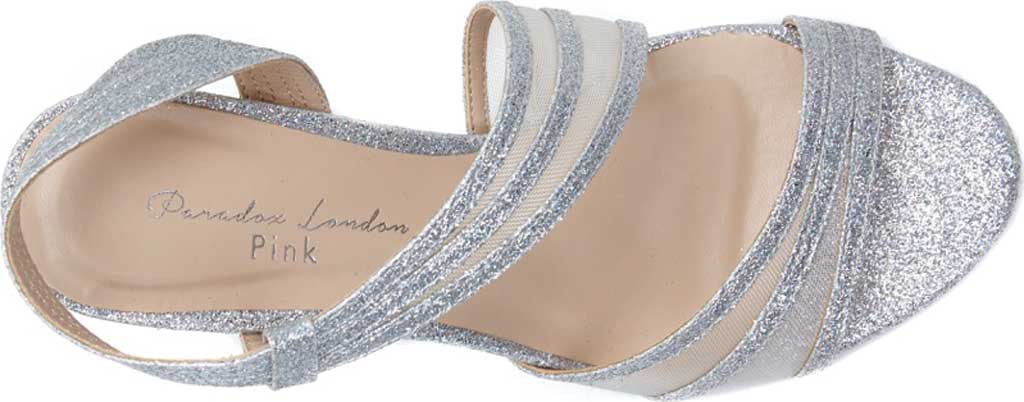Women's Pink Paradox London Marina Slingback Sandal, Silver Glitter, large, image 3