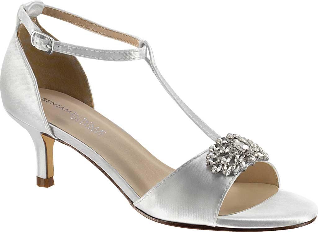 Women's Dyeables Ophelia T Strap Sandal, White Satin, large, image 1