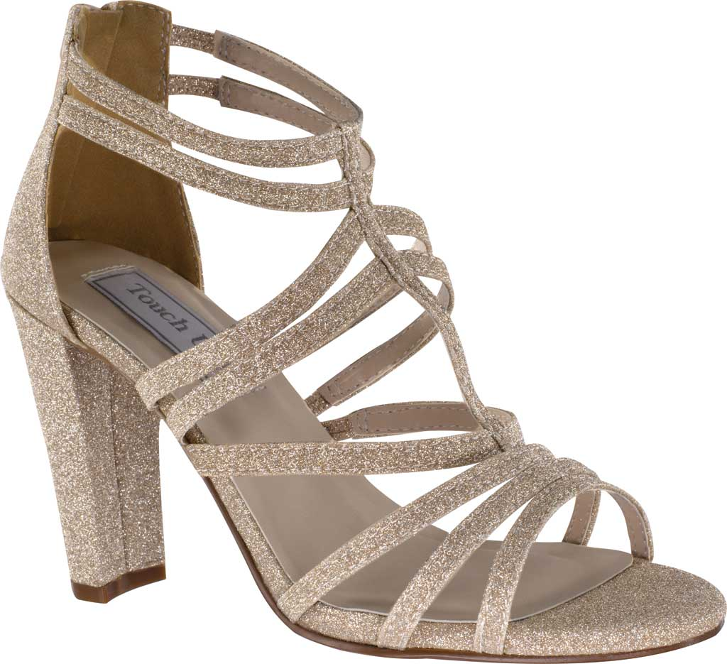 Women's Touch Ups Rhyan Strappy Cage Sandal, Champagne Glitter Synthetic, large, image 1
