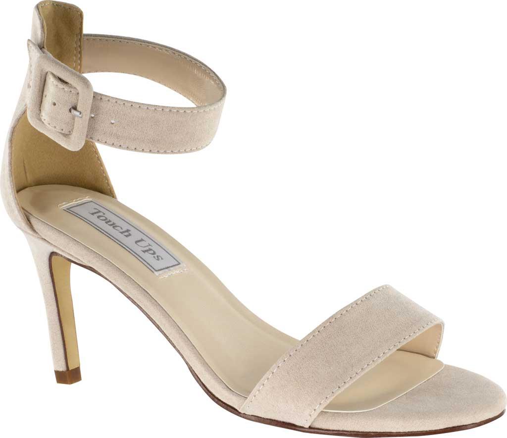 Women's Touch Ups Brenda Ankle Strap Heeled Sandal, Beige Imitation Suede, large, image 1