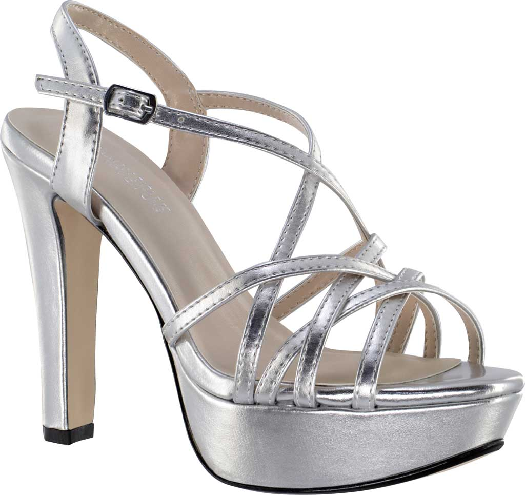 Women's Touch Ups Wren Strappy Sandal, Silver Metallic Synthetic, large, image 1