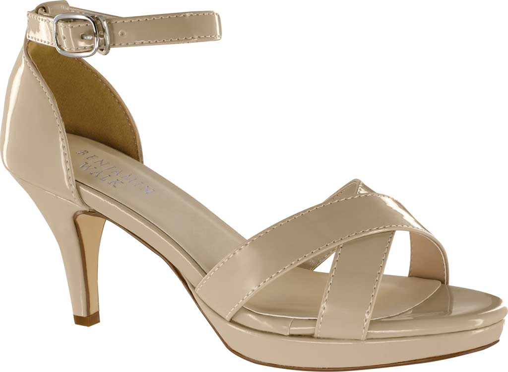 Women's Touch Ups Suzanne 2 Ankle Strap Heeled Sandal, Nude Patent, large, image 1