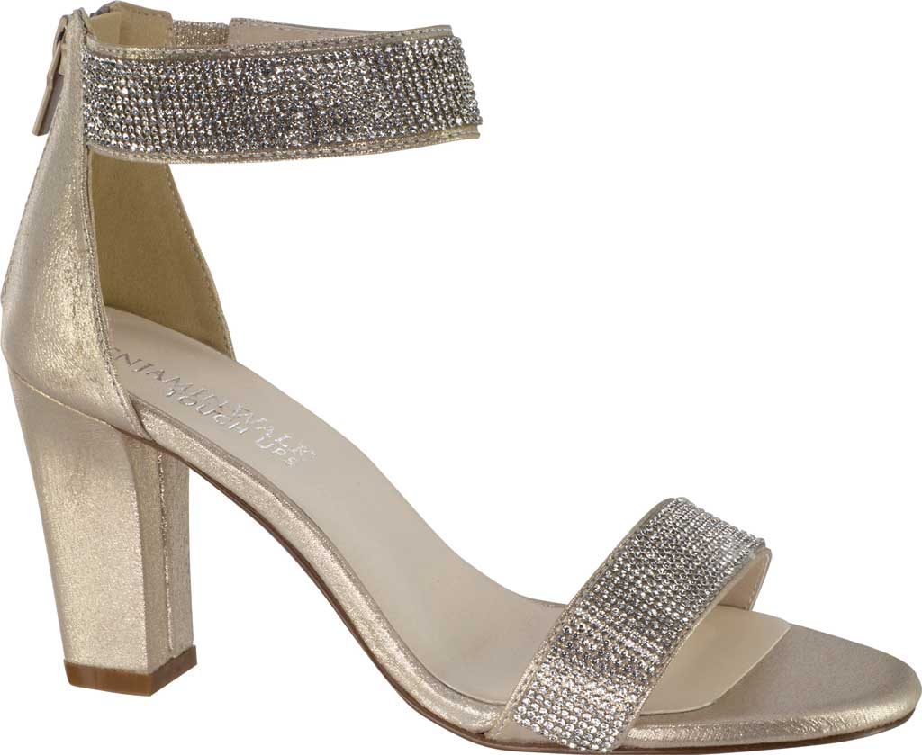 Women's Touch Ups Marley Heeled Sandal, Champagne Shimmer Fabric, large, image 1