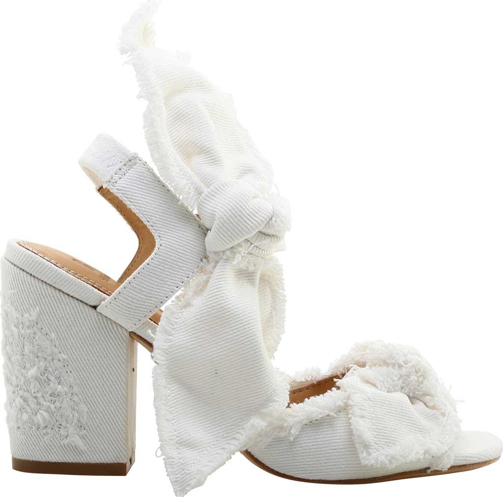 Women's Bill Blass Carmen 90 Block Heel Sandal, White Denim, large, image 1