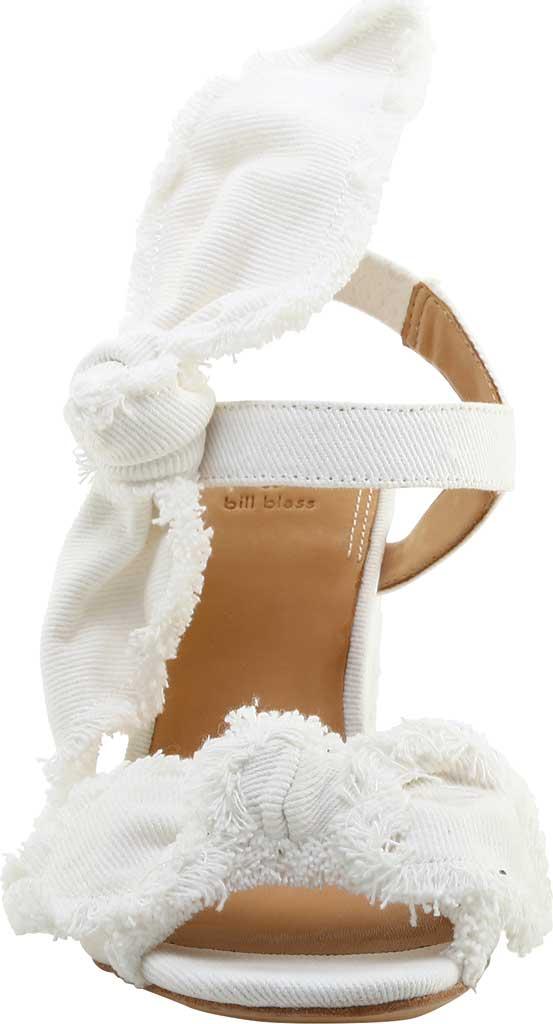 Women's Bill Blass Carmen 90 Block Heel Sandal, White Denim, large, image 2