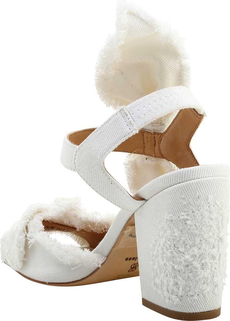 Women's Bill Blass Carmen 90 Block Heel Sandal, White Denim, large, image 3