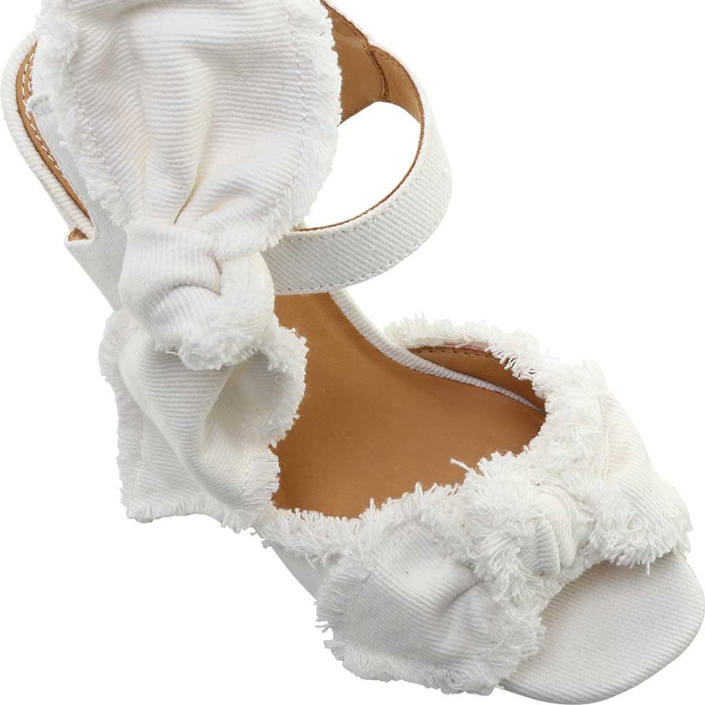 Women's Bill Blass Carmen 90 Block Heel Sandal, White Denim, large, image 4