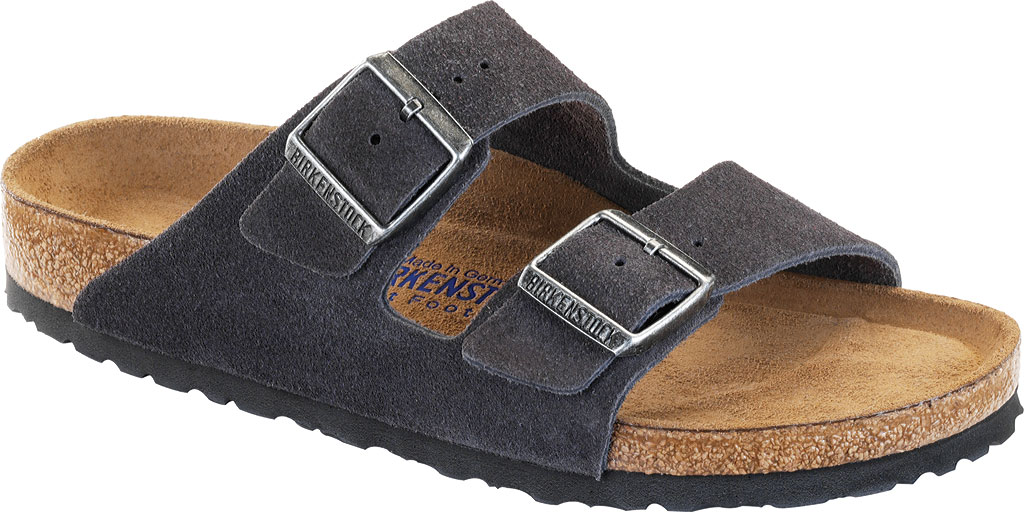 Birkenstock Arizona Suede with Soft Footbed, Velvet Gray Suede with Soft Footbed, large, image 1