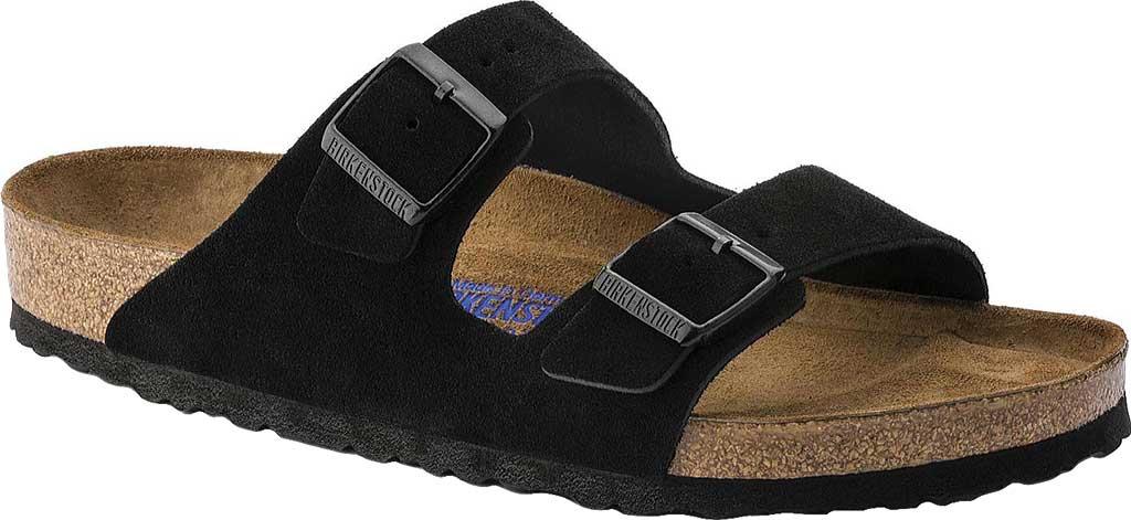 Birkenstock Arizona Suede with Soft Footbed, Black Suede with Soft Footbed, large, image 1