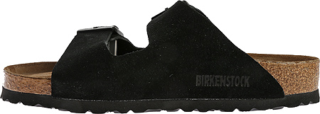 Birkenstock Arizona Suede with Soft Footbed, Black Suede with Soft Footbed, large, image 3