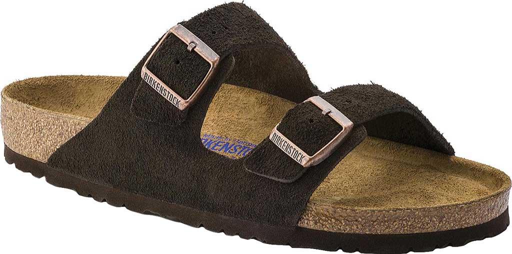 Birkenstock Arizona Suede with Soft Footbed, Mocha Suede with Soft Footbed, large, image 1