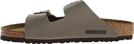 Birkenstock Arizona Birkibuc Sandal, Stone Birkibuc, large, image 3