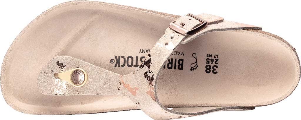 Women's Birkenstock Gizeh Thong Sandal, Vintage Metallic Rose Copper Leather, large, image 2