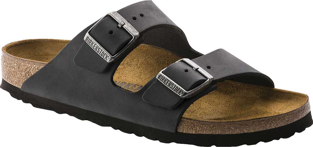 Birkenstock Arizona Oiled Leather, Black Oiled Leather, large, image 1