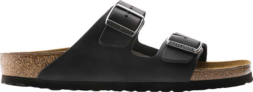 Birkenstock Arizona Oiled Leather, Black Oiled Leather, large, image 2
