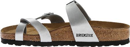 Women's Birkenstock Mayari Birko Flor, Silver, large, image 3