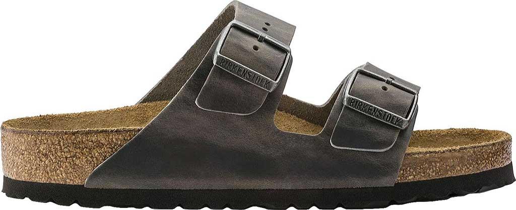 Birkenstock Arizona Soft Footbed Oil Leather Sandal, Iron Oiled Leather, large, image 2