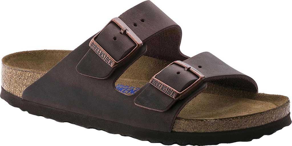 Birkenstock Arizona Soft Footbed Oil Leather Slide, Habana Oiled Leather, large, image 1