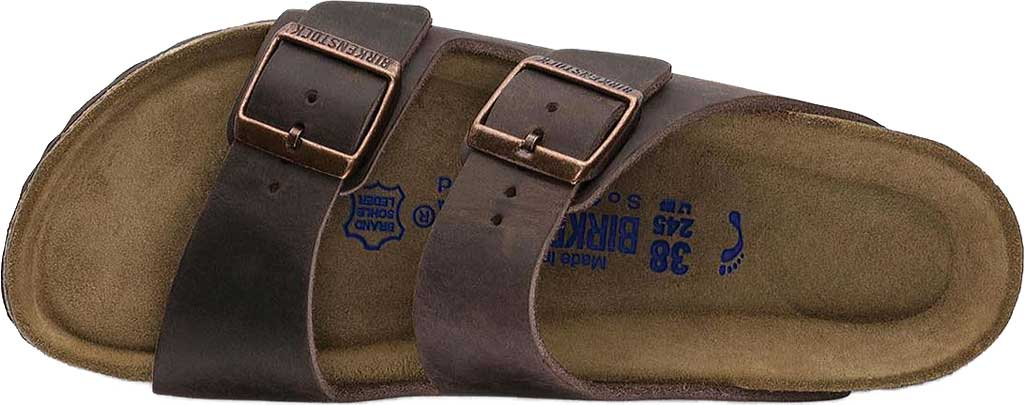 Birkenstock Arizona Soft Footbed Oil Leather Slide, Habana Oiled Leather, large, image 5