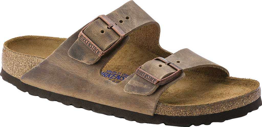 Birkenstock Arizona Soft Footbed Oil Leather Sandal, Tobacco Oiled Leather, large, image 1