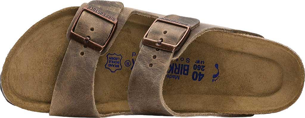 Birkenstock Arizona Soft Footbed Oil Leather Slide, Tobacco Oiled Leather, large, image 5