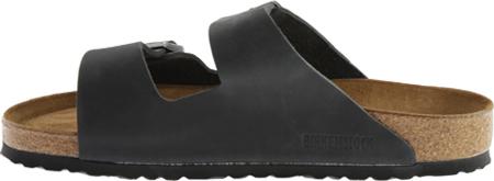 Birkenstock Arizona Soft Footbed Oil Leather Slide, Black Oiled Leather, large, image 3