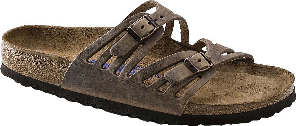 Women's Birkenstock Granada Soft Footbed, Tobacco Oiled Leather, large, image 1